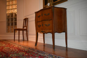 French antique commode with gorgeous marble top