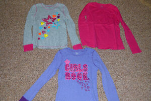 GIRL'S SIZE L/XL LONG SLEEVE SHIRTS