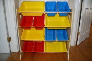 Children's 12-Bin Storage Unit