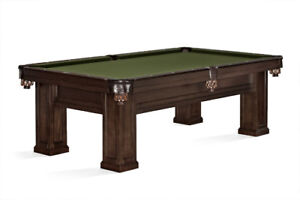 **8FT POOL TABLE, CONVERSION TOP, ACCESSORY PACK-$3699**