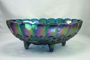 Iridescent Indiana Glass Fruit Bowl from 1950.s