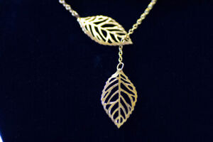 NEW Silver or Gold Leaf Necklace