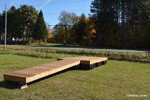 8 x 16 pressure treated floating dock with 4 x 16 ramp Kingston Kingston Area image 1