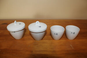 Vintage Set of 4 Coors Pottery Apothecary Cups/Crucibles