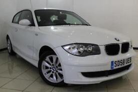 2008 58 BMW 1 SERIES 2.0 118D ES 3DR 141 BHP DIESEL