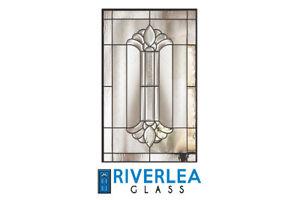 "GLASS INSERT FOR DOOR - RIVERLEA GLASS ""ROYAL"""