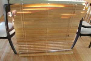 2 SETS OF WOODEN BLINDS 42 x 44 INCHES