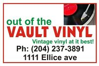 OUT OF THE VAULT VINYL  1111 Ellice Ave. open   SAT-SUN 10-5