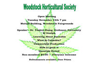 Woodstock Horticultural Society Open Meeting