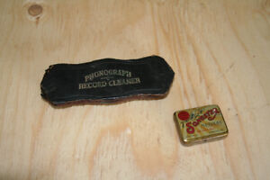 Phonograph Cleaning Brush and Needles
