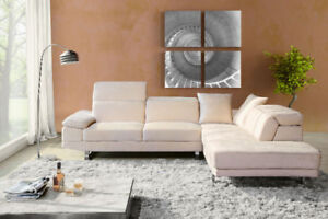 Genuine Leather Sectional and chaise