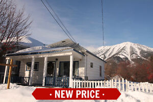NEW PRICE! Downtown Fernie Home Has Loads of Character
