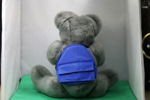 Soft cuddly Grey Teddy Bear fully moveable joints, & backpack Kingston Kingston Area image 3