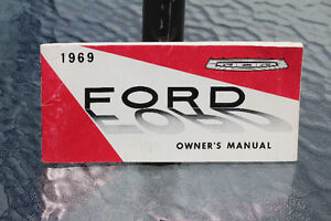 1969 FORD OWNER'S MANUAL GUIDE