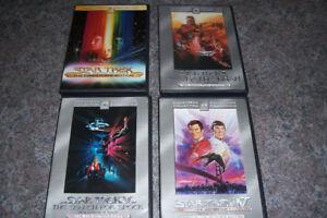 Star Trek TOS + TNG lot de 10 Films en DVD plus 2 VHS rares