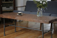 Table basse industrielle/rustique - Coffee table ind./rustic