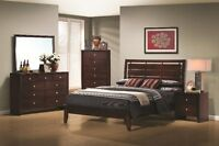 NEW! Queen Bed, 2 N/S & Tall Chest Same Day Delivery!