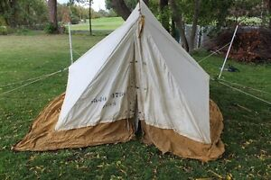 Vintage Canvas MNR Tent (Good condition, Needs a cleaning)