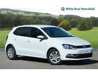 2015 Volkswagen Polo SE 1.2 TSI 90PS 5-speed Manual 5 Door Petrol white Manual