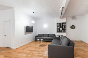 4 1/2 Apartment Fully Furnished in Le Plateau.. Boul St. Laurent