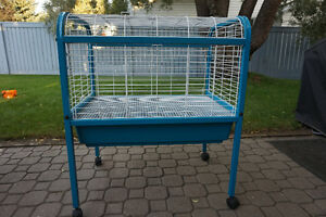 Large Animal Cage White and Blue