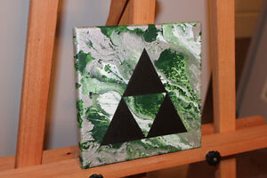Zelda triforce abstract painting