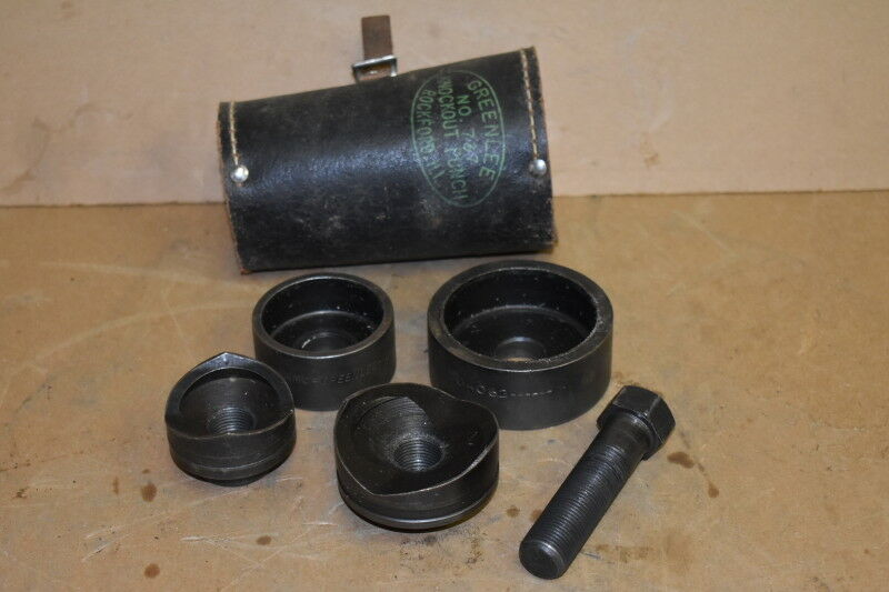 """Conduit knockout punch set, 1 1/2"""", 2"""", 735, Greenlee"""