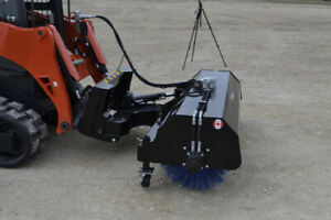 NEW Skid Steer Pick up Brooms, Hyd Angle and Tillers!!!!