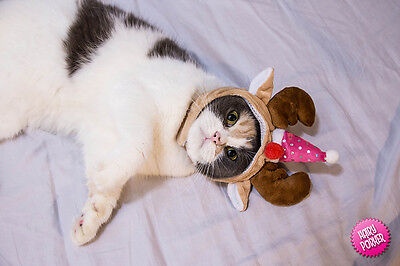 SALE [Party Special Reindeer Pet Hat for Cats and Dogs] Halloween / Costume - Halloween Costumes For Cats For Sale