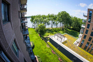 Water View! 3 bed, 2 bath Pierrefonds Condo for Rent (A Louer)
