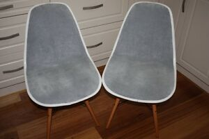 Replica DSW Eames Padded Dining Chairs Grey Fabric  $40 each West Pennant Hills The Hills District Preview