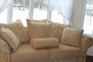 Set of two couches LIKE NEW!  Gold color