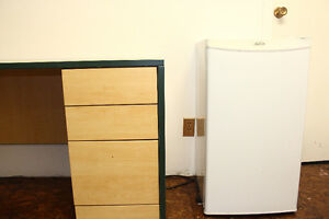 2 small  Sunbeam refrigerators and  1 small General Freezer