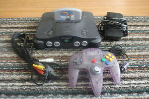N64 w/ One Controller & Wave Racer