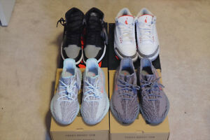 Yeezy 350 Boosts and Jordans - Size 10-11