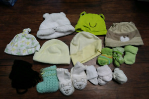 Gender neutral hats, socks and booties