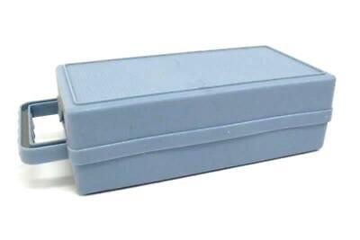 Vintage Light Blue Plastic Cassette Carrying Case Holds 11 or 16 Tapes