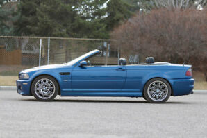 Topaz Blue BMW M3 Convertible 6 Speed manual
