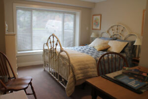 Spacious, quiet,fully-furnished, one bdrm suite available now!