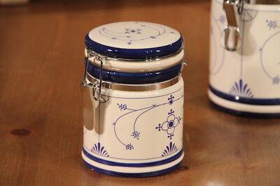 Vorratsose indisch blau mit Bügelverschluß ca. Ø: 8 cm x 11 cm Keramik