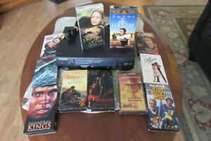 Quality VCR Player with Lots and Lots of Great VHS Movies