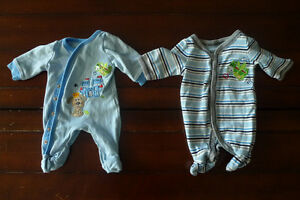 2 preemie sleepers for baby boy - never used