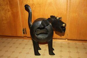 Adorable Large Metal Dog Figure Candle Holder