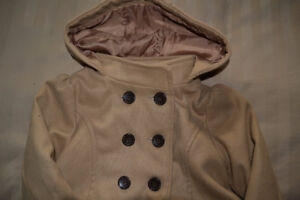 FALL STYLE - GIRLS BROWN PEACOAT 5T