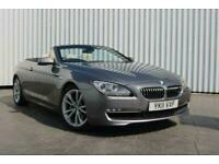 2011 BMW 6 Series 3.0 640I SE 2DR AUTOMATIC Convertible Petrol Automatic