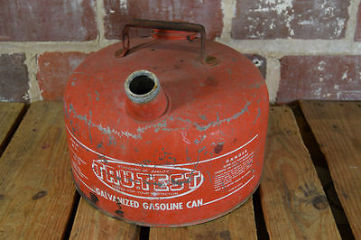 Vintage Tru-test M 2 12 Gallon Galvanized Metal Gasoline Can Gas