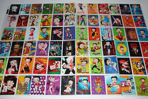 BETTY BOOP-COLLECTION-CARTES/CARDS-BASE SET (NEUF/NEW)
