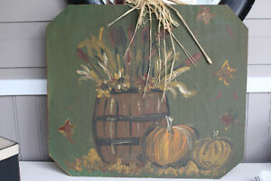 wooden fall painting