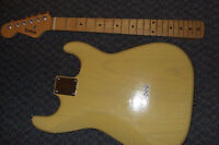Parts/Project Lefty Left-handed Ash Strat body & maple neck