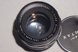 Super takumar 55mm f2>>>>50mm manual lens with adapter For Sony